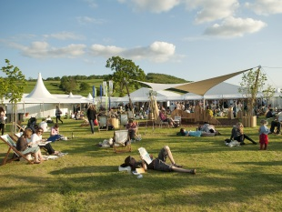 Hay Festival grounds