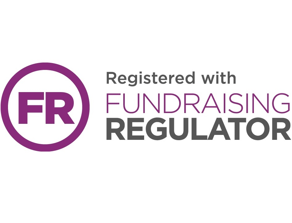 Logo: Registered with Fundraising Regulator (FR)