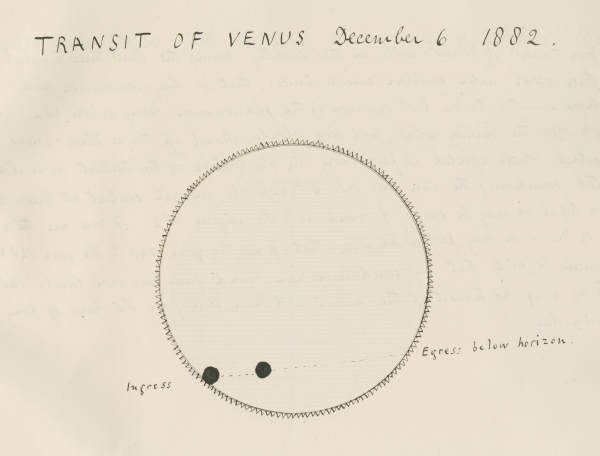 The transit of Venus, 1882 (MS/117/6)