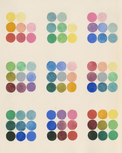 Colour spot chart by William Benson, 1868