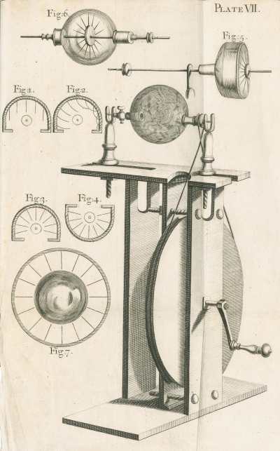 A globe electrical machine by Francis Hauksbee