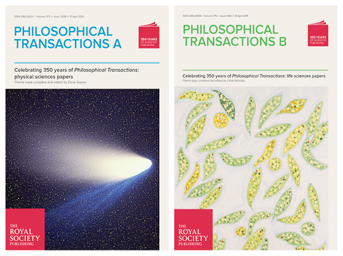 350 year anniversary Philosophical Transaction journals