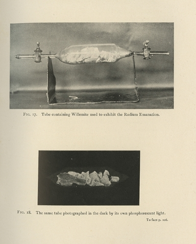 Plate from Frederick Soddy's 'The interpretation of radium', 1909