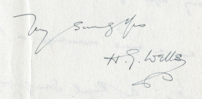 Signature of H.G. Wells (Royal Society CD/109)