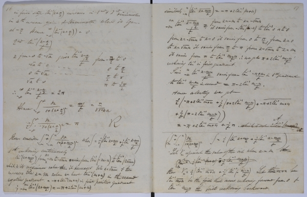 George Boole: MS/782 notebook 26, page 16