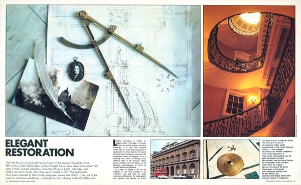 The opening spread for the 1978 Telegraph Sunday Magazine story 'Elegant Restoration'