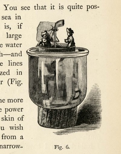 Sailing a sieve, from 'Soap Bubbles' (1890) by C.V. Boys