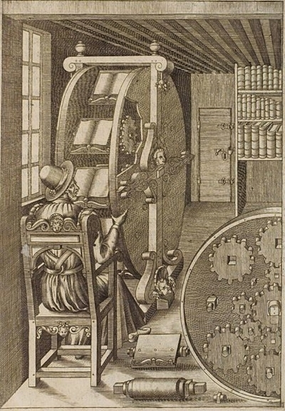 Agostino Ramelli's book wheel (1588)