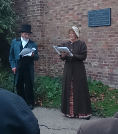 Unveiling of the memorial to Zachary Macaulay FRS in St George's Gardens, London