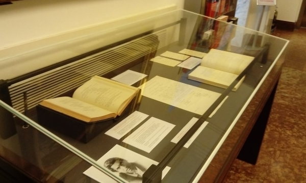 Ramanujan exhibit at the Royal Society
