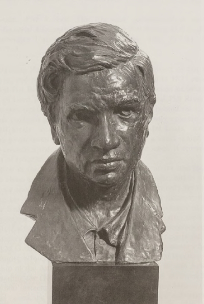 Bust of Srinivasa Ramanujan by Paul Granlund, 1983