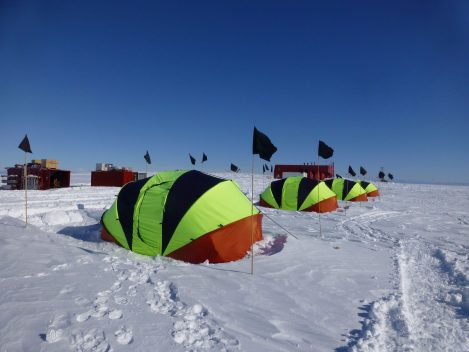 Sleeping tents at Halley Station, Antarctica