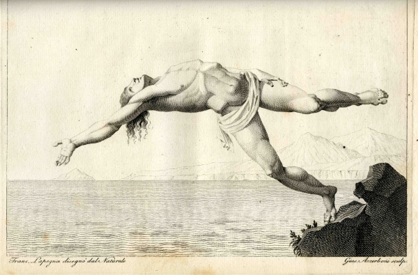 Plate 15 from Oronzio de Bernardi's 'The floating man' (1794)