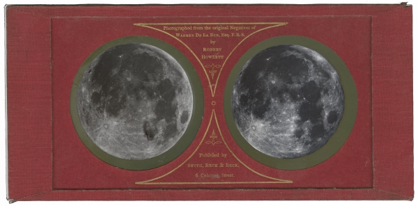 The Moon, circa 1858, stereoscopic diapositive on glass