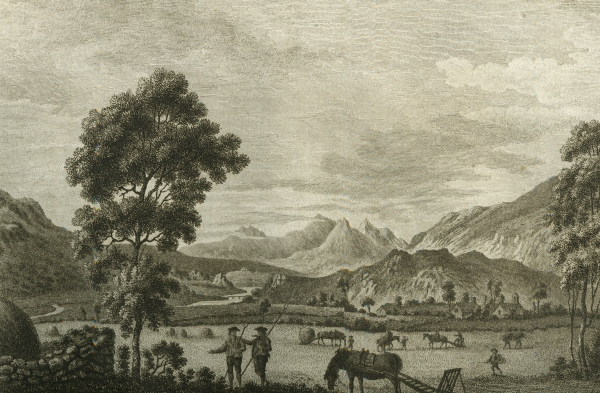 'The summit of Snowdon from Capel Cerig' by Moses Griffith, 1781