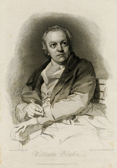 Engraving of William Blake by Luigi Schiavonetti, 1801