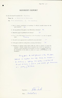 Report form and guidance 1900s – this 1957 report is based on Filon's revisions.