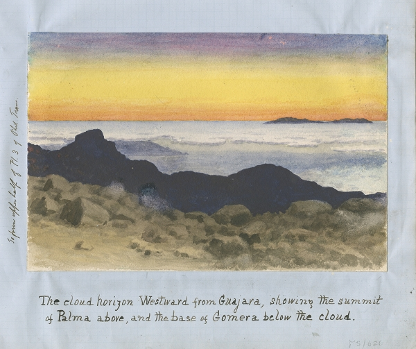 Watercolour of the 'cloud horizon'