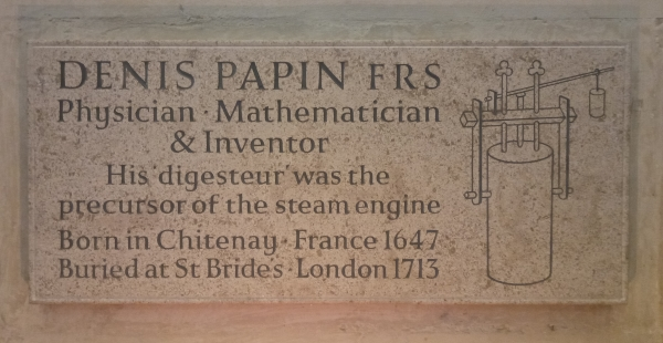 Denis Papin's plaque
