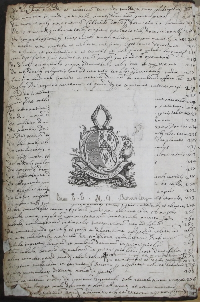 Front pastedown of our copy of Agrippa 'De Occulta Philosophia'