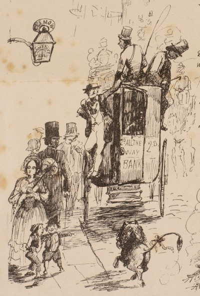 Illustration of Fleet Street by Thomas Huxley FRS, for Soliloquy' by Edward Forbes FRS