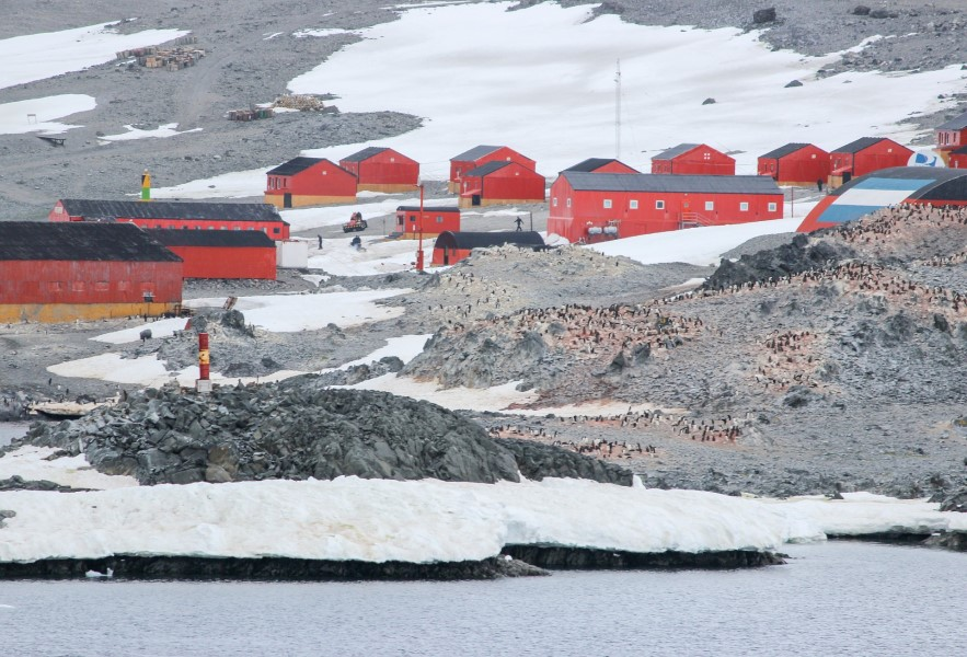 A research station in Antarctica