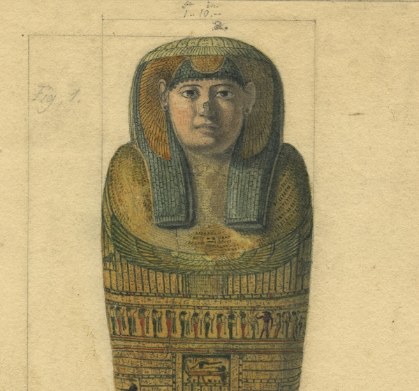 Lid of the coffin that contained Irtyersenu's mummy