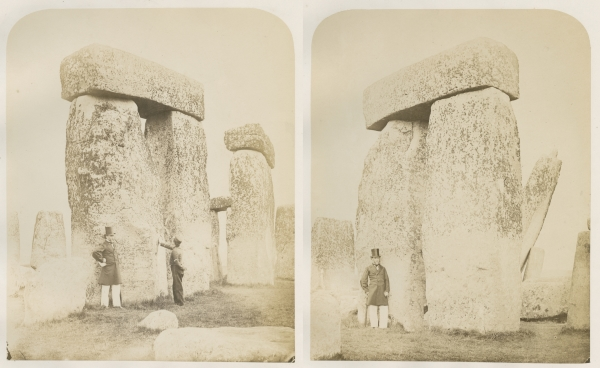 Plates 6 ('Trilithons B and C') and 5 ('Trilithon B') from 'Plans and photographs of Stonehenge' by Henry James FRS, 1867