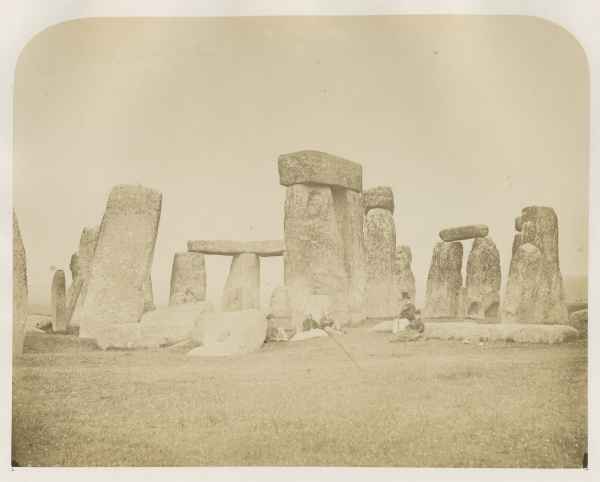 Plate 10 ('View from the South West') from 'Plans and photographs of Stonehenge' by Henry James FRS, 1867