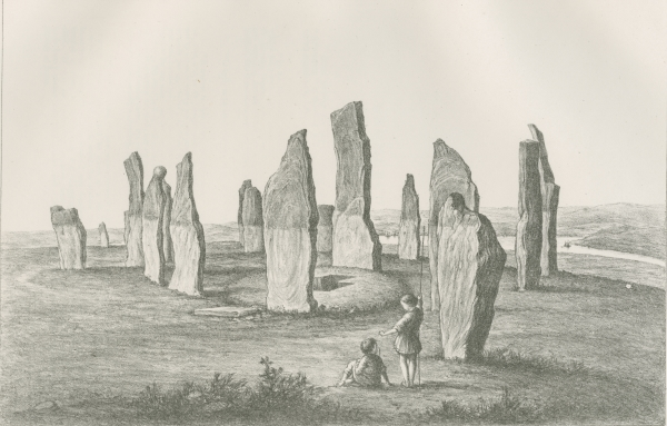 Plate 13 ('Turasachan, Callernish') from 'Plans and photographs of Stonehenge' by Henry James FRS, 1867