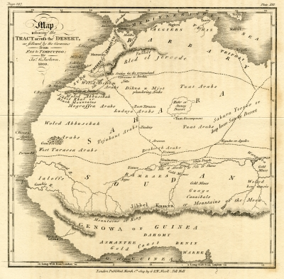 Map from 'An account of the empire of Marocco' by James Jackson, 1809