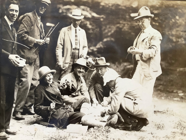 Botanists' barbecue in Canada, 1924
