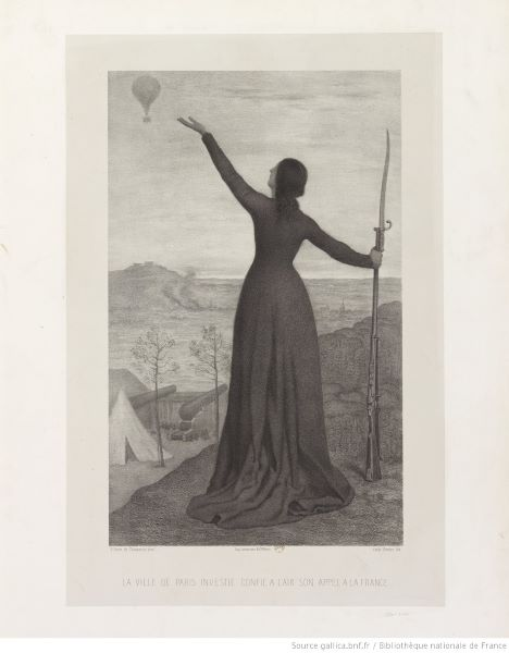 Puvis de Chavannes's Le Ballon, painted during the Siege of Paris and getting at this idea of the balloon as an emotive technology.