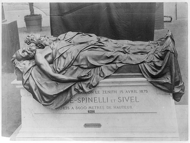 Tomb of Croce-Spinelli and Sivel (French scientists), killed in the crash of the balloon Zenith, 15 Apr. 1875