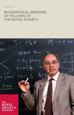 Volume 69 Biographical Memoirs - Cover - Michael Atiyah (Corbin O'Grady Studio/Science Photo Library)