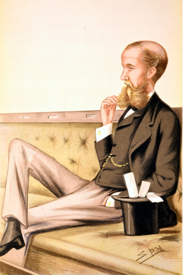 'Spy' cartoon of Sir John Lubbock FRS, 1878