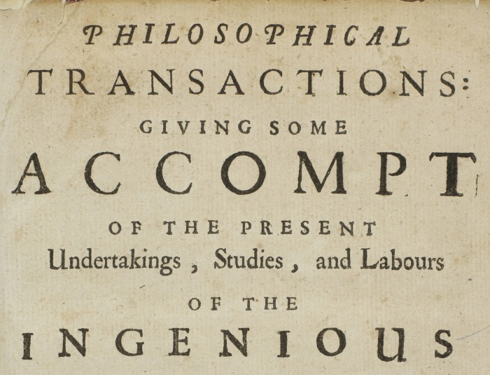 front page of the first Philosophical Transactions