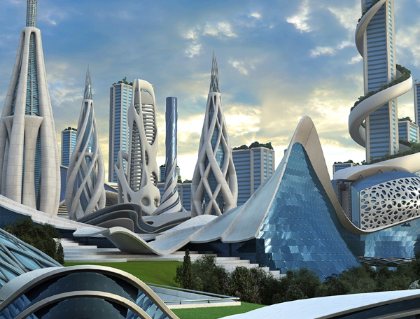 Futuristic buildings