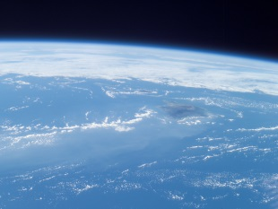 The Earth's atmosphere from space. Credit: Earth Science and Remote Sensing Unit, NASA Johnson Space Center
