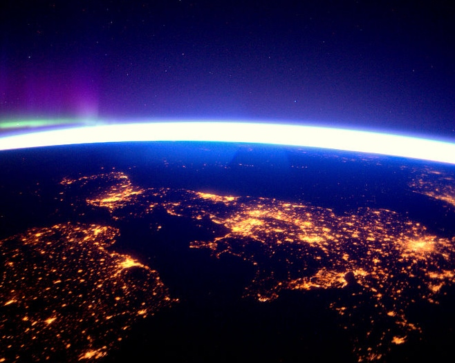 UK and Ireland at night