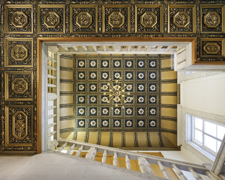 The Royal Society marble staircase