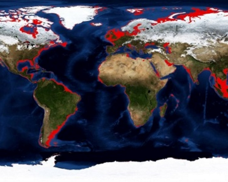 A global problem: approximate areas of land loss following the last glacial maximum (S.Fitch).