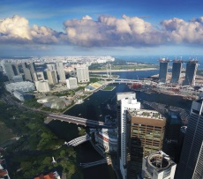 By William Cho - Another Window View from 60th floor of UOB Plaza 1 – Singapore., CC BY-SA 2.0