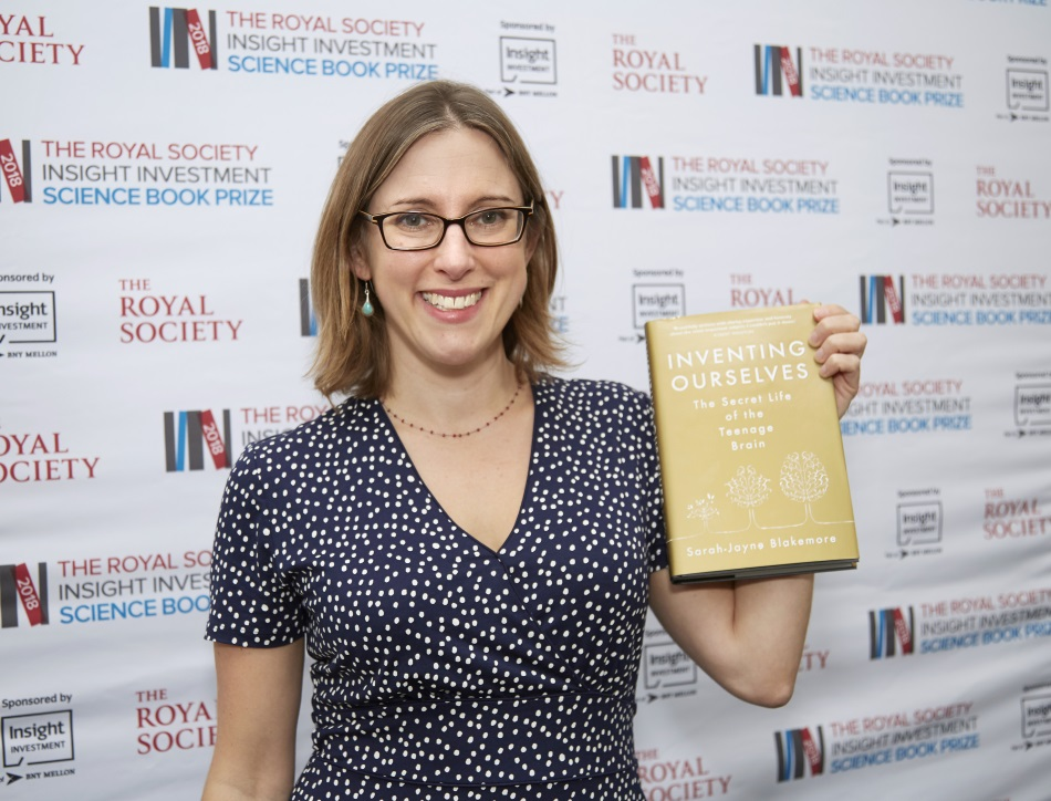 Sarah-Jayne Blakemore, winner of the Royal Society Insight Investment Book Prize 2018