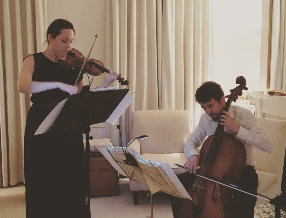 82 Degrees, Ada Witczyk (violin) and Mark Walkem (cello)