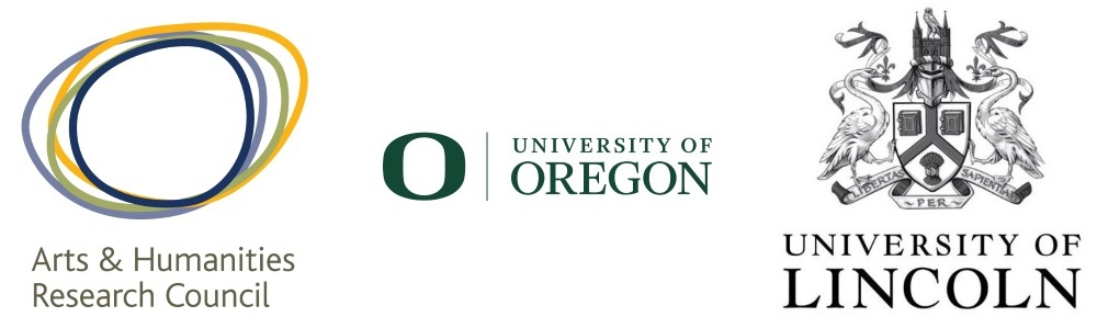 Arts and Humanities Research Council, University of Oregon, University of Lincoln