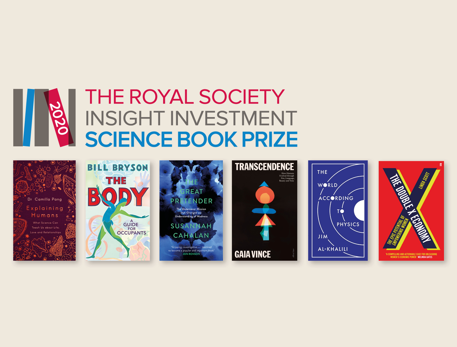 The titles shortlisted for the 2020 Royal Society Insight Investment Science Book Prize