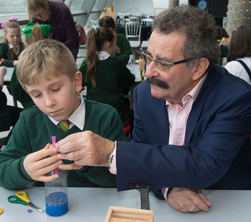 Robert Winston with a young judge