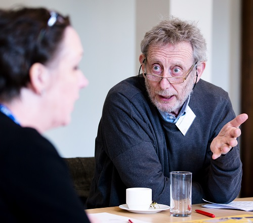 Professor Sheila Rowan FRS and Professor Michael Rosen at the 2019 shortlisting meeting