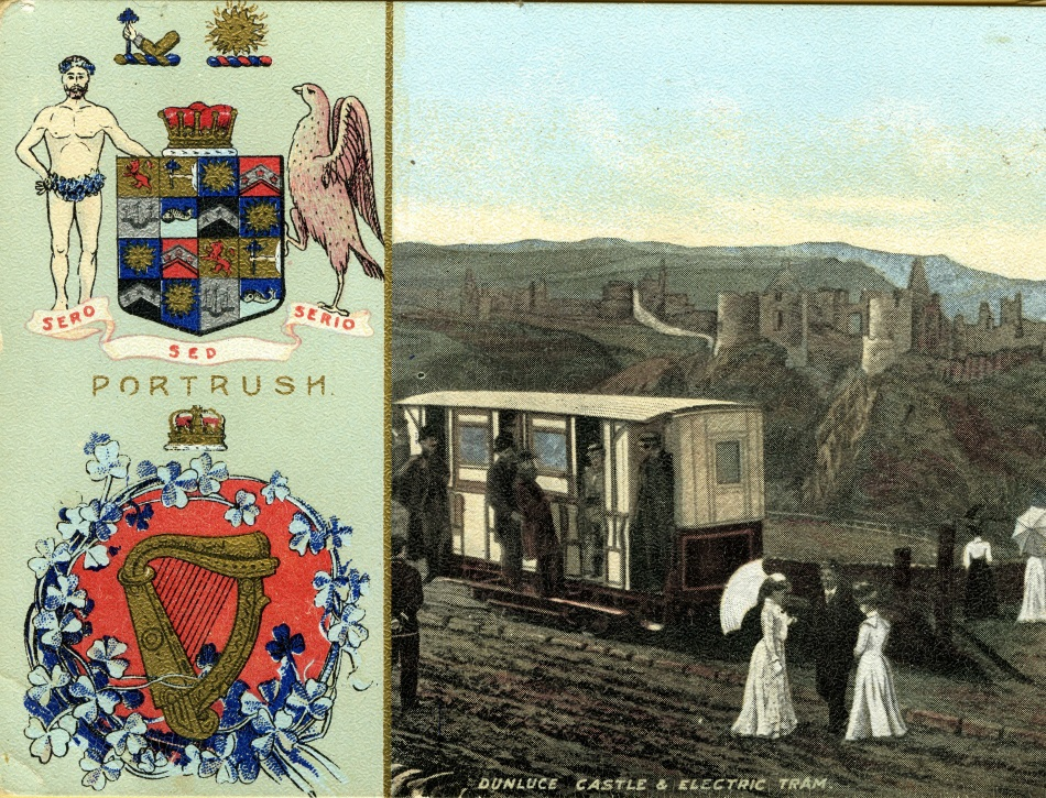 Ballymoney Museum: Early 20th Century postcard from the Causeway Tram.